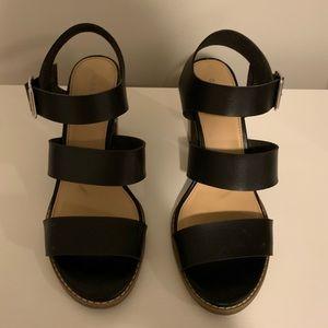 Old navy black strap shoe